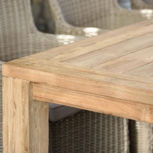 Cancun 2.2m Outdoor FSC Teak Timber Lifestyle Garden Dining Table
