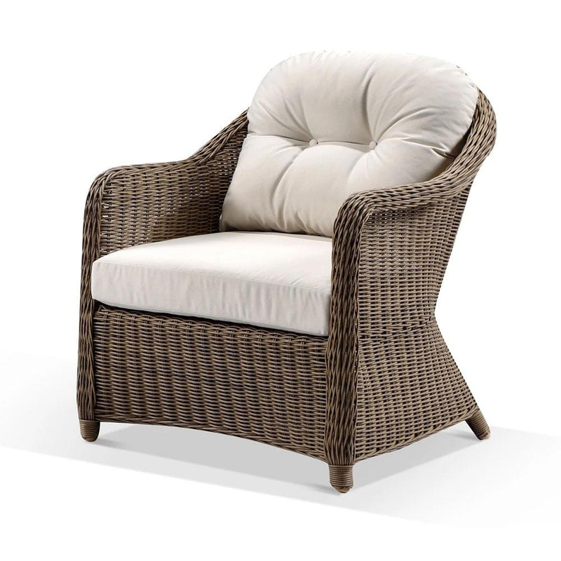 Plantation Outdoor Wicker Lounge Suite with Coffee Table in Brushed Wheat