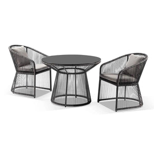 Luna Outdoor Wicker 3 Piece Dining Set