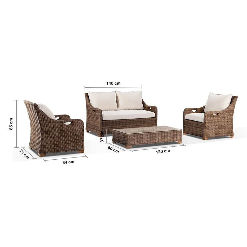 Randwick 2+1+1 - Outdoor Wicker Lounge Suite