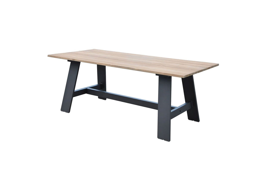 Brooklyn Outdoor Teak Dining Table with Bench Seats