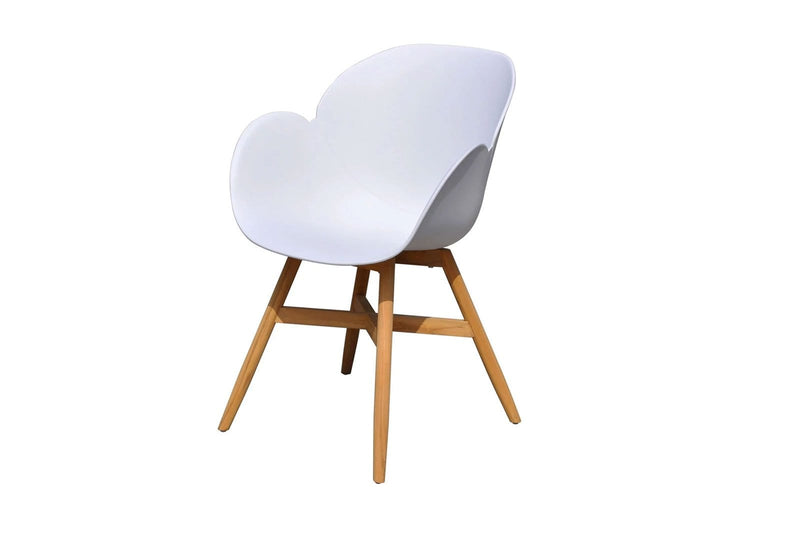 Oscar Outdoor Dining Chair in White