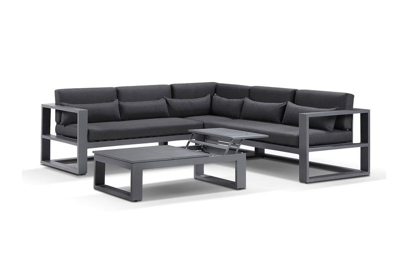 Santorini Package B in Charcoal with Denim Grey cushions