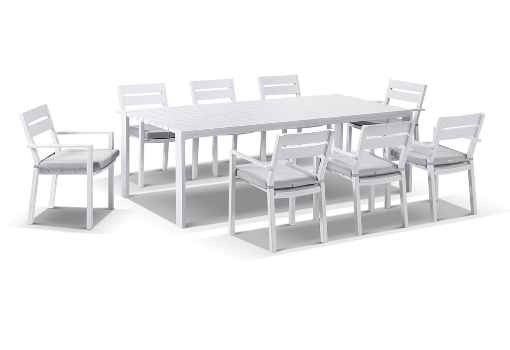 Capri 9 Pcs Dining Setting in White