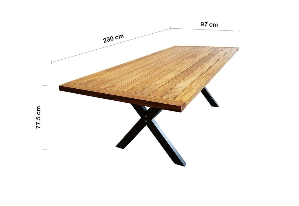 Loft 2.3m Outdoor Teak Dining Table