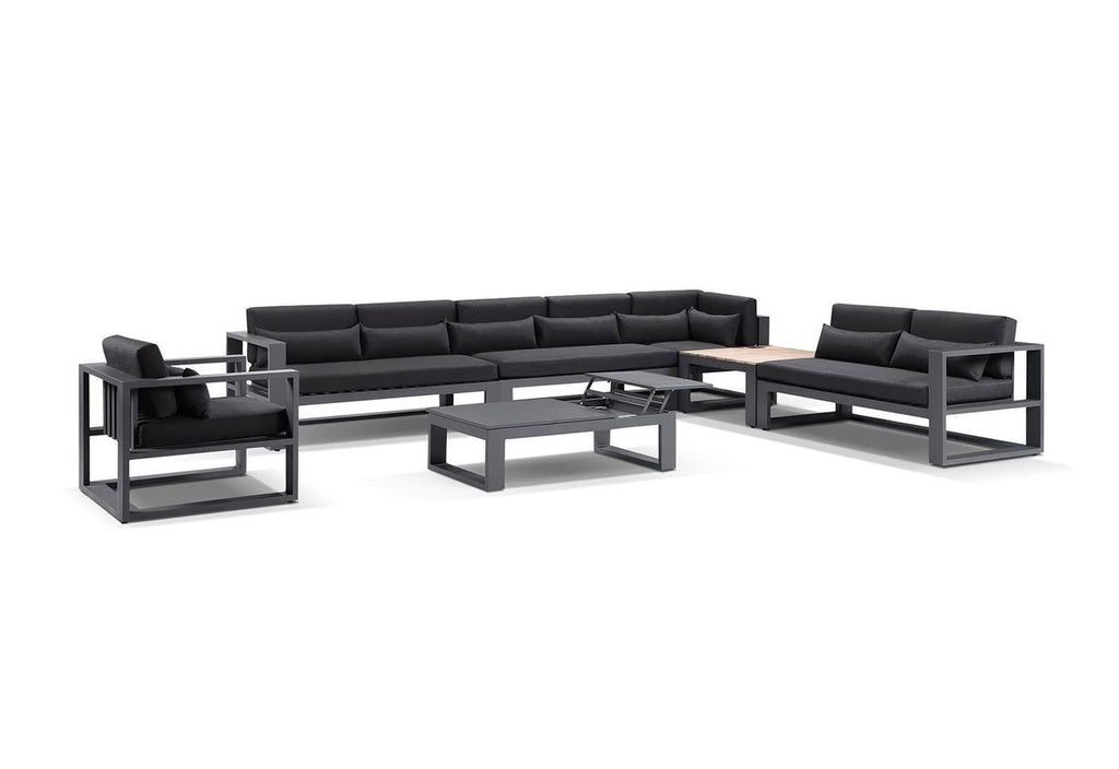 Santorini Package D in Charcoal with Denim Grey cushions