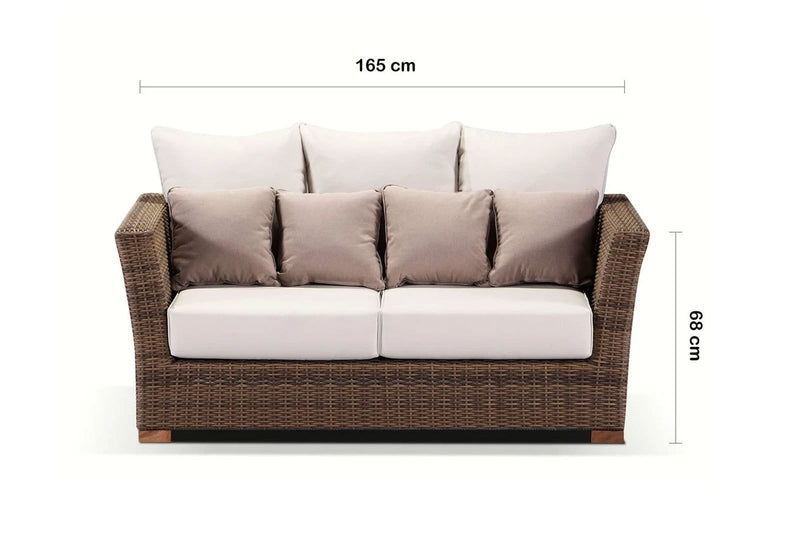 Coco 2 Seater - 2 Seat DayBed In Outdoor Rattan Wicker