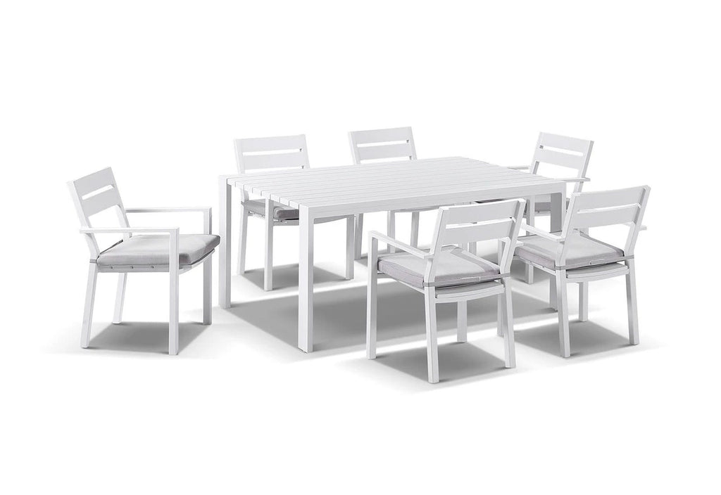 Capri 7pcs Dining Setting in White
