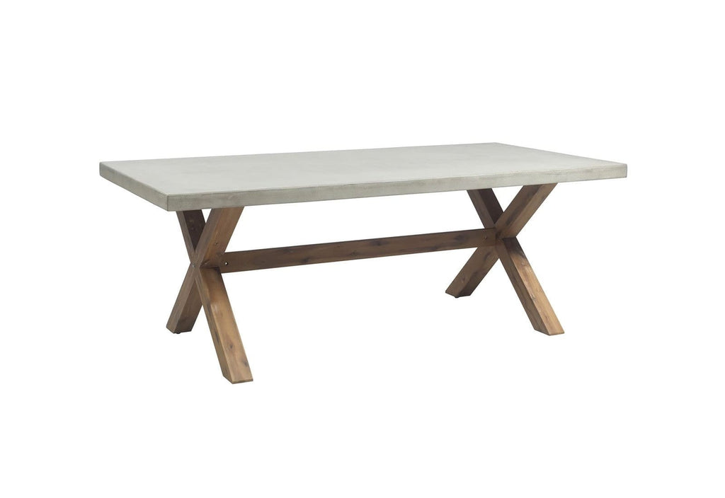 Rhodes 2m Poly Cement Dining Table with Bench Seats