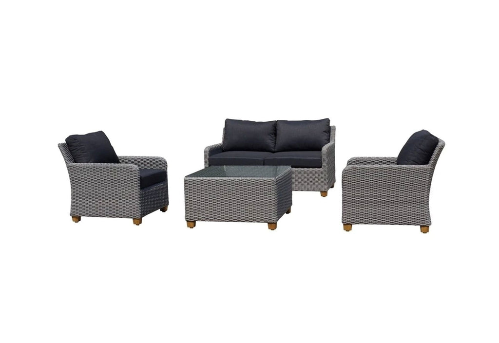 Blue Stone Lounge 2+1+1 4pc Patio Lounge Setting