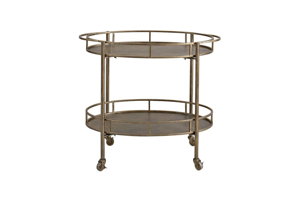 Aubrey Golden Drinks Trolley Homeware