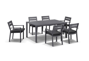 Capri 7pcs Dining Setting in Charcoal
