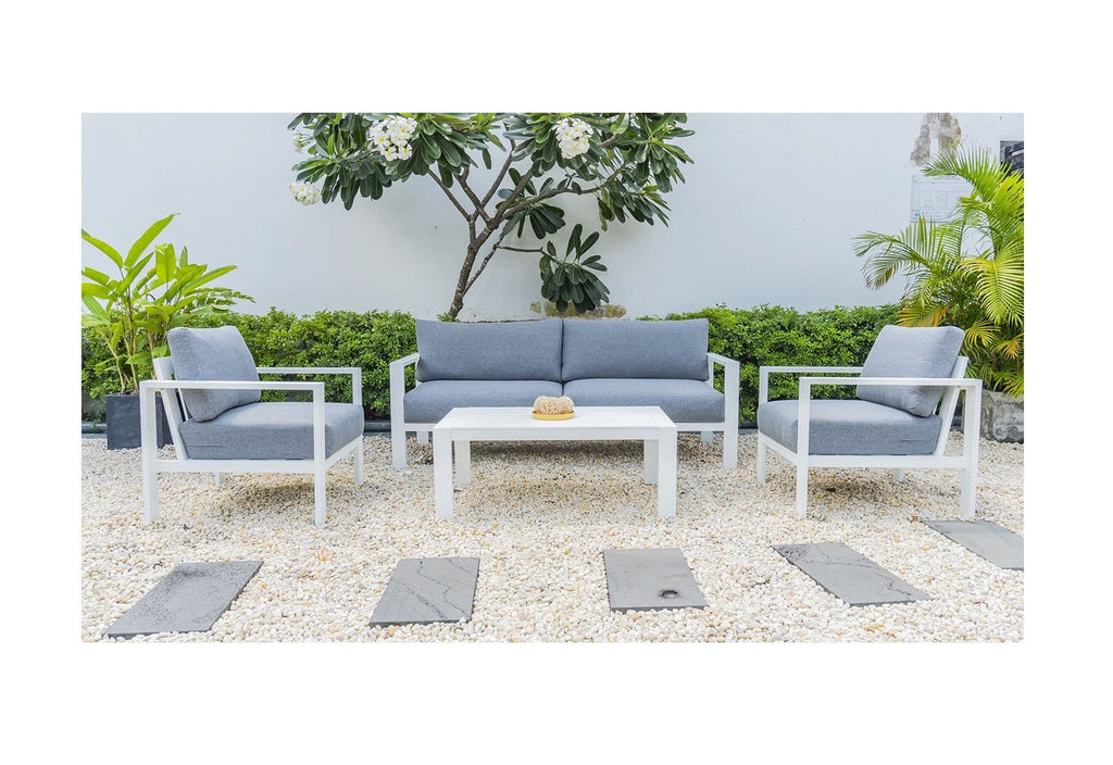 Delta 3+1+1 Outdoor Aluminium Lounge Set with Coffee Table