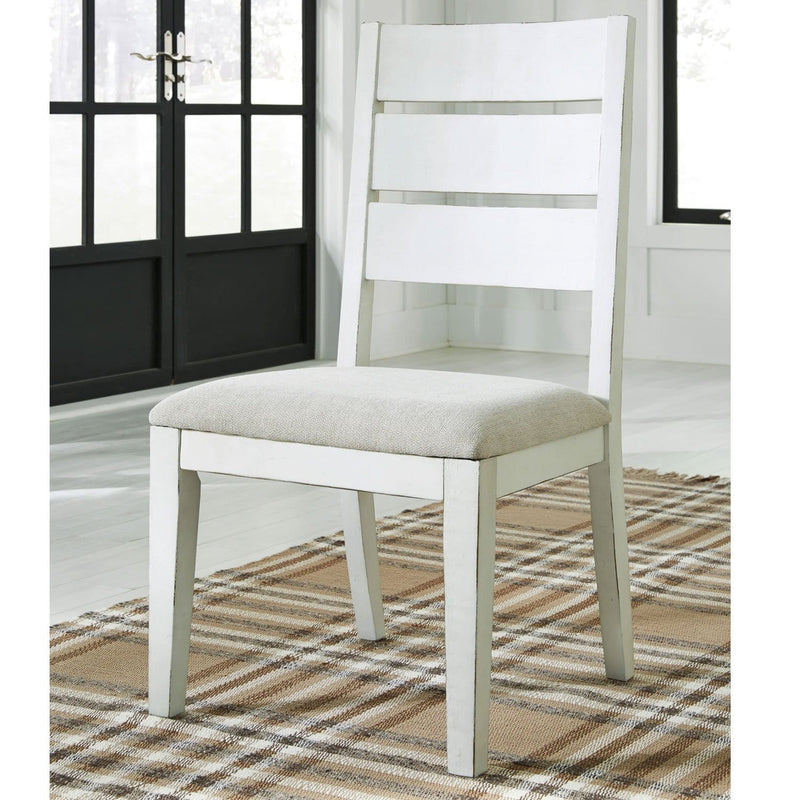 Oakland Indoor Rectangle Timber Dining Table and Textured White Dining Chairs
