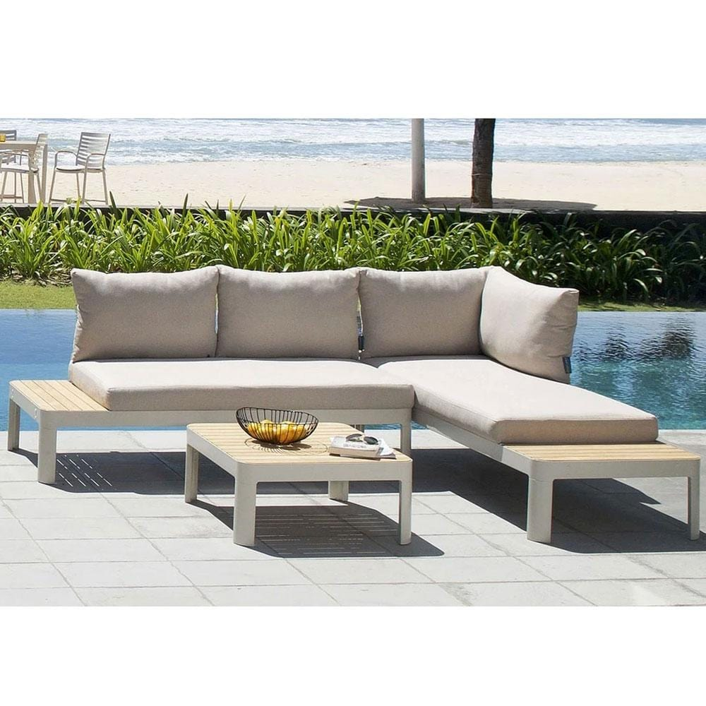 Bondi Outdoor Aluminium and Teak Lounge Setting