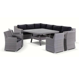 Milano 9 piece Lounge and Dining Setting - Package F