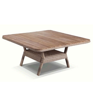 Low Dining 1.5m Square Teak Top Table