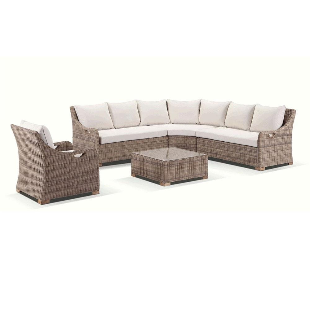 Randwick Package B - Outdoor Rattan Wicker Modular Sofa With Arm Chair