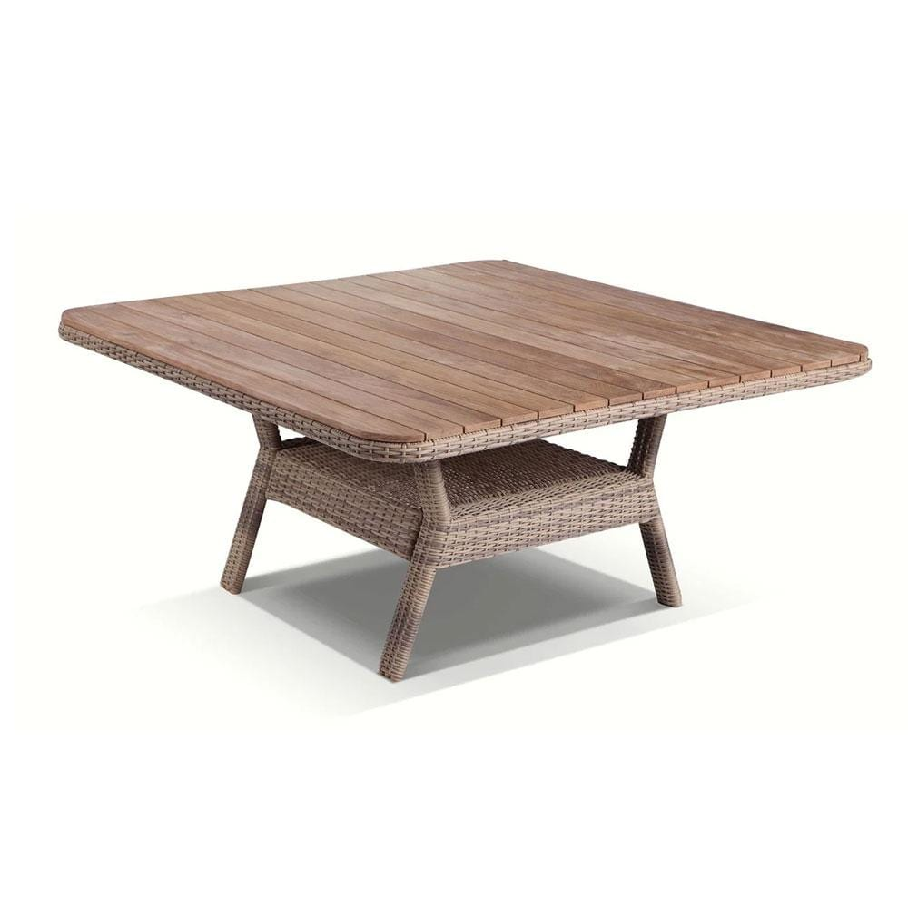 Low Dining Table 1.2m Square Teak Top