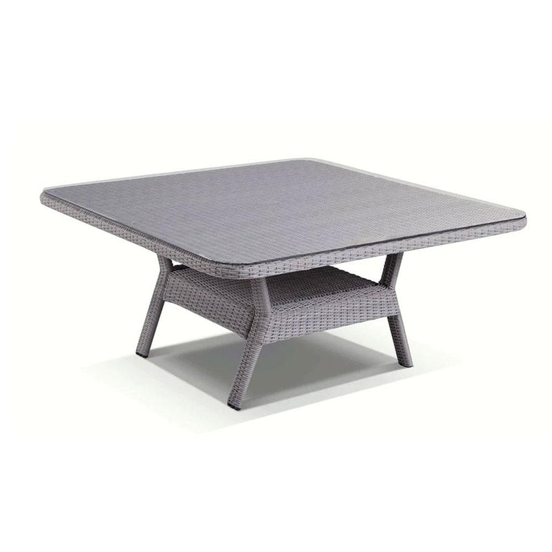 Low Dining Table 1.5m Square Glass Top