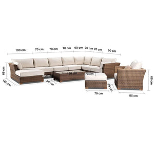 Coco Lounge - Package D - Huge Corner Chaise Lounge With Arm Chair