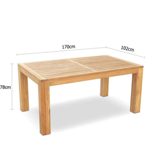 Entertainer Teak 1.7m Outdoor Teak Table