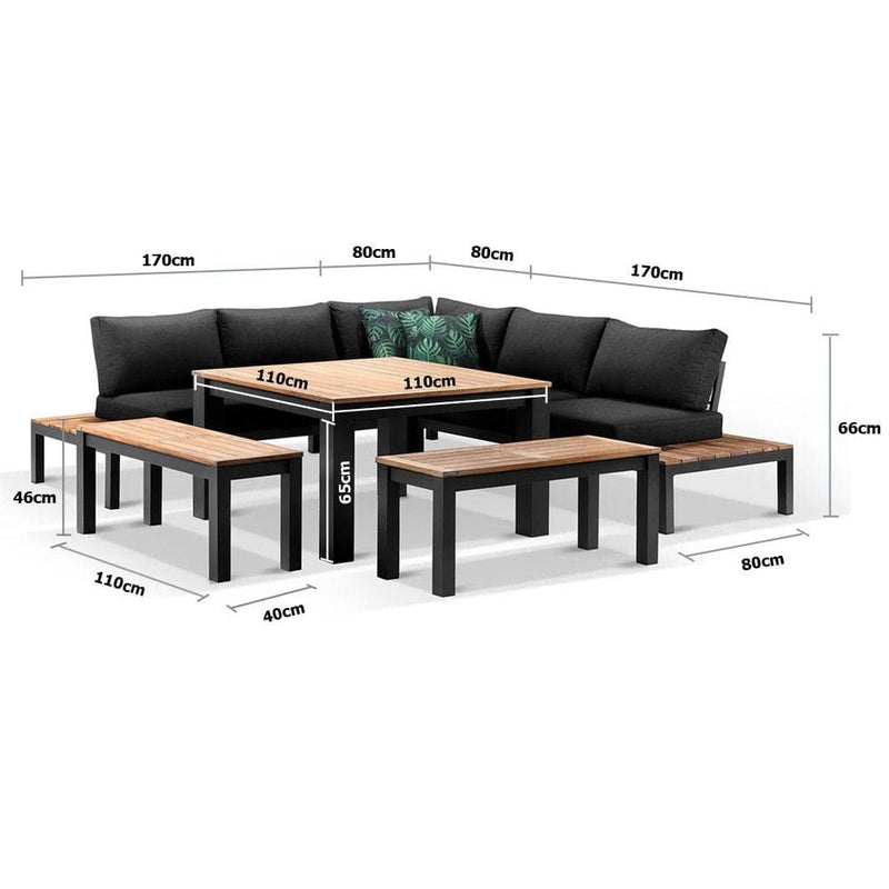 Nova Outdoor Aluminium Lounge and Dining Setting