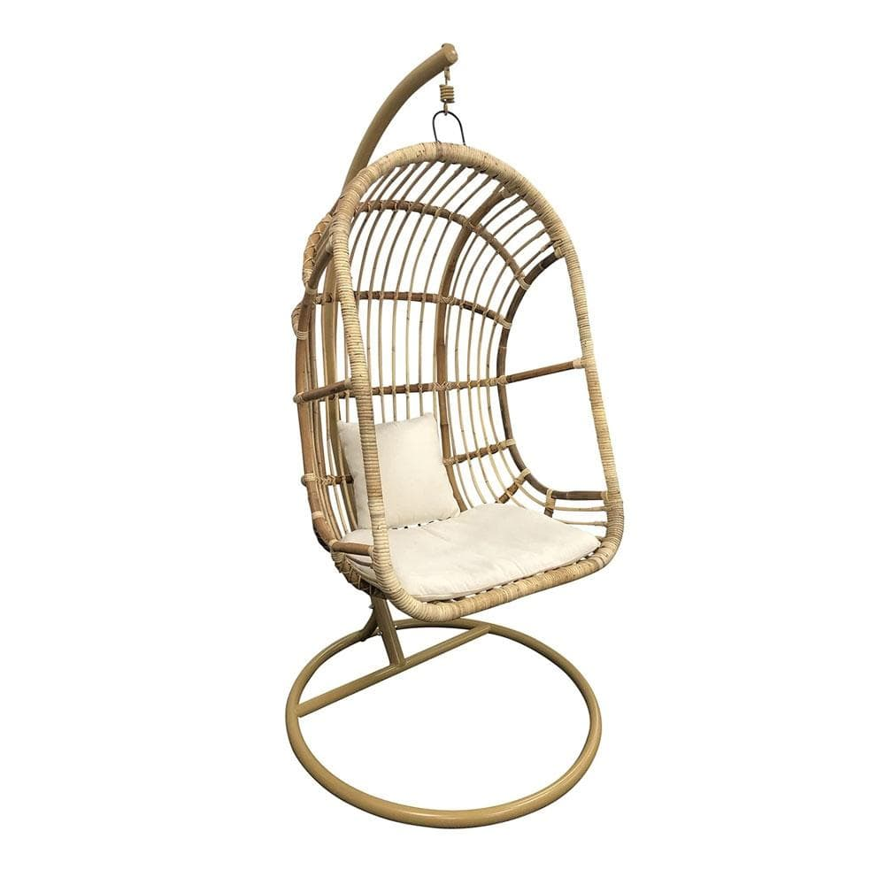 Balinese Natural Rattan Hanging Egg Chair