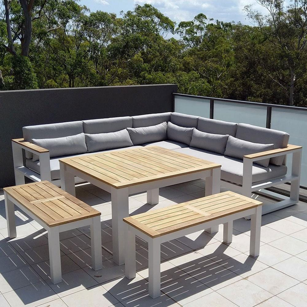 Balmoral Outdoor Aluminium Lounge and Dining Setting