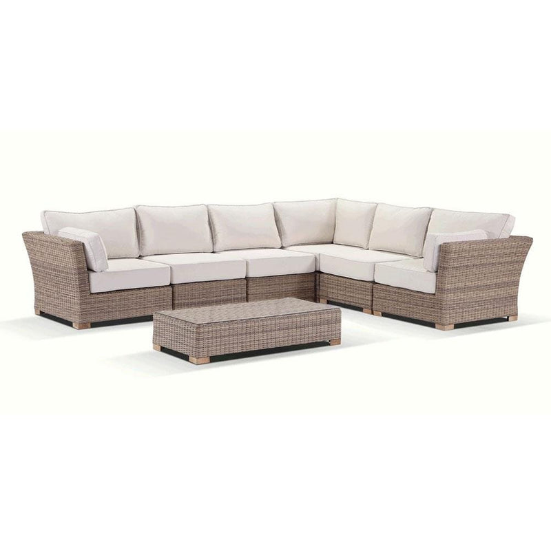 Coco Corner - With Arm Chair- Modular Outdoor Sofa  in Rattan Wicker