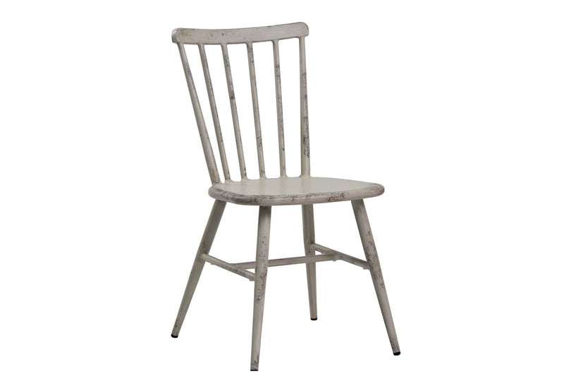 Replica Windsor Stackable Outdoor Dining Chair in Antique Off White