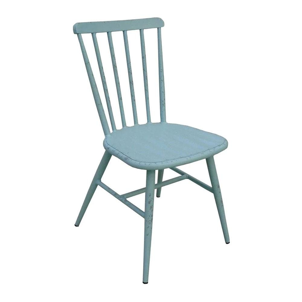 Replica Windsor Stackable Outdoor Dining Chair in Antique Blue