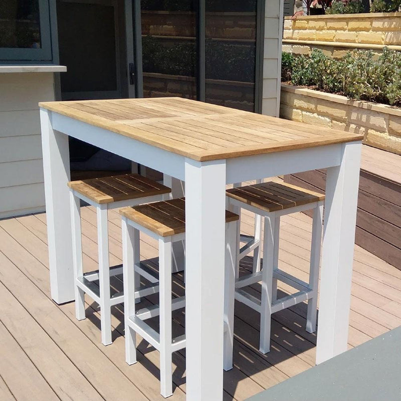 Balmoral 4 Seater Teak Top Aluminium Bar Setting