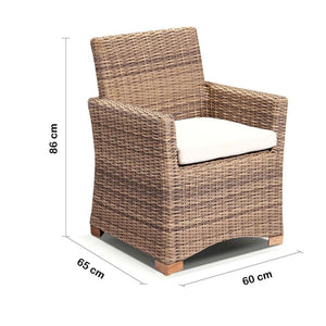 Coco Outdoor Wicker Dining Chair