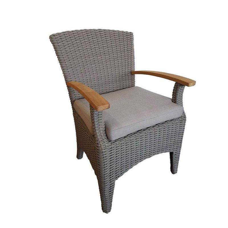 Kai Outdoor dining chair in Half Round Wicker