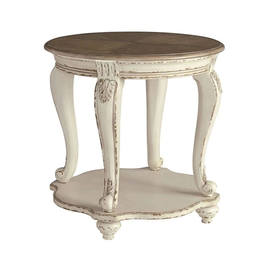 Hamptons Round Indoor Timber Side Table