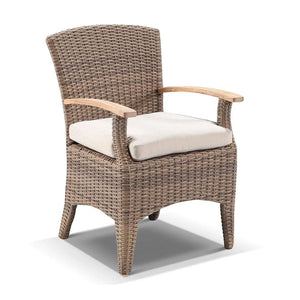 Sahara 8 Square with Kai Chairs in Half Round wicker