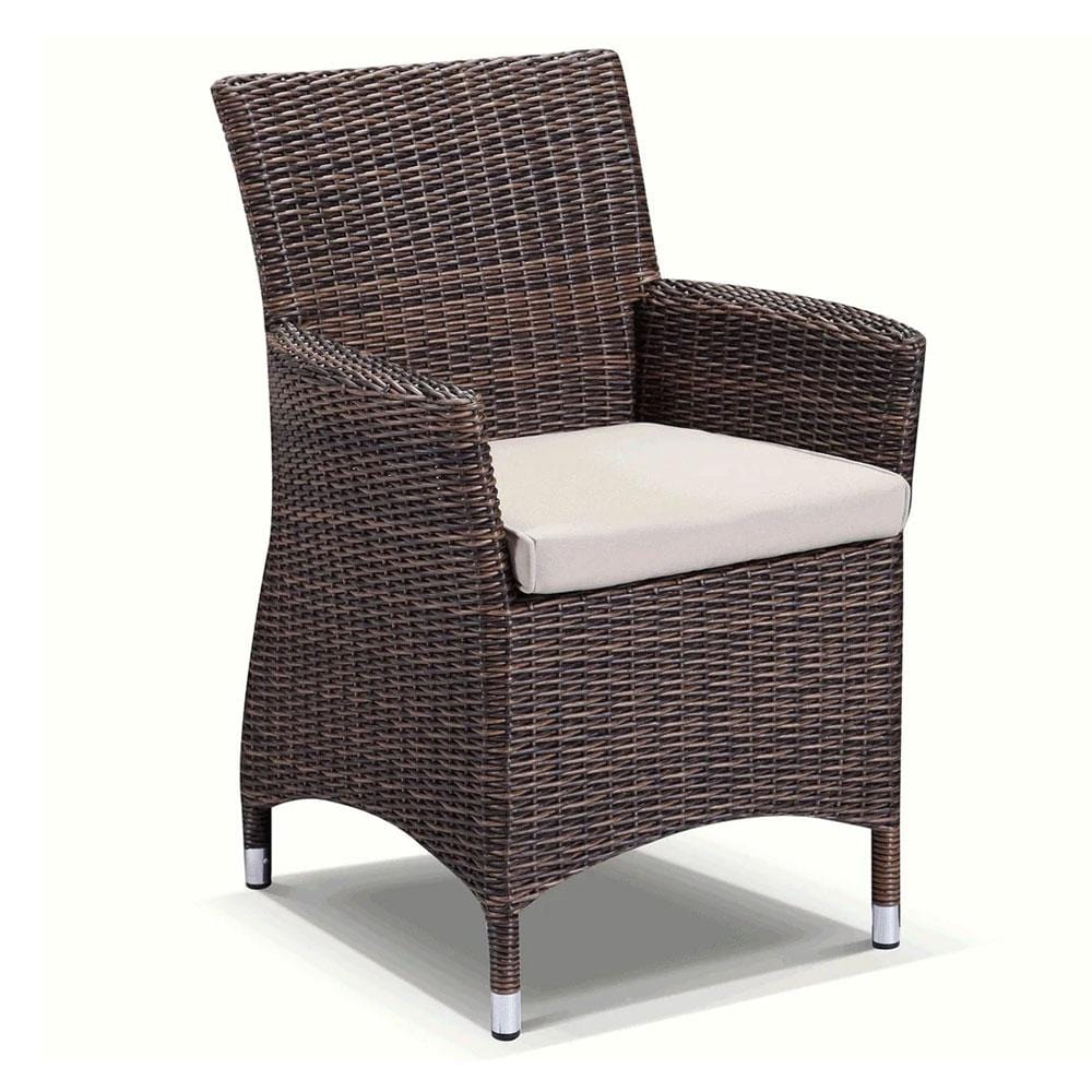 Roman Chair - In Half Round Wicker