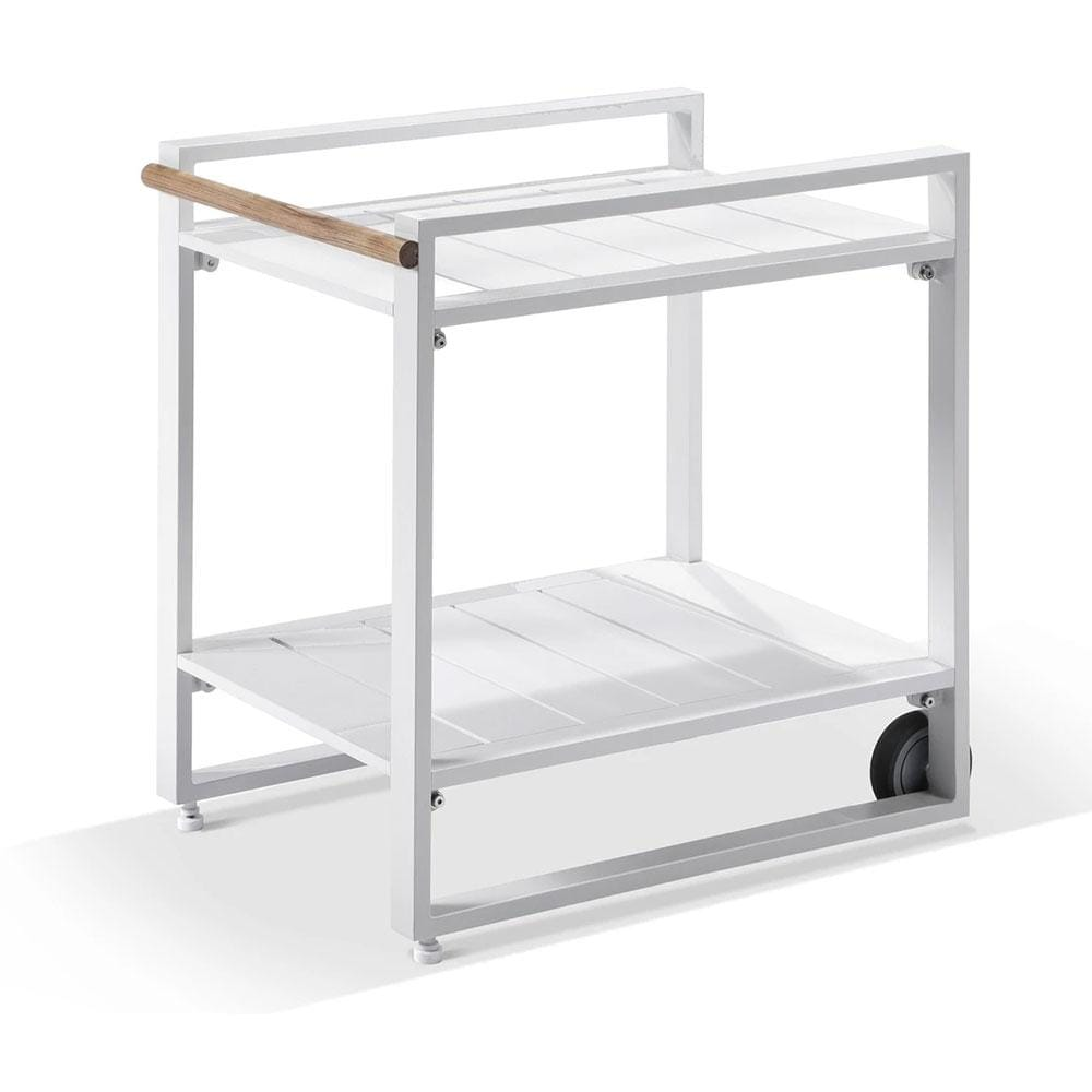 Balmoral Outdoor Aluminium Bar Cart on Wheels