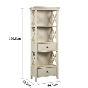 Abbey Timber Indoor Display Cabinet with Drawers