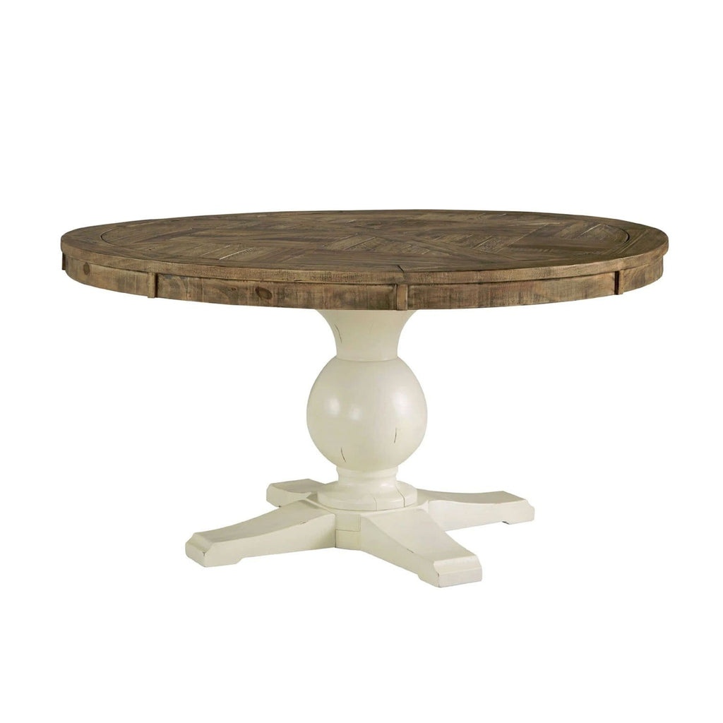 Oakland Round Indoor Timber Two Tone Dining Table