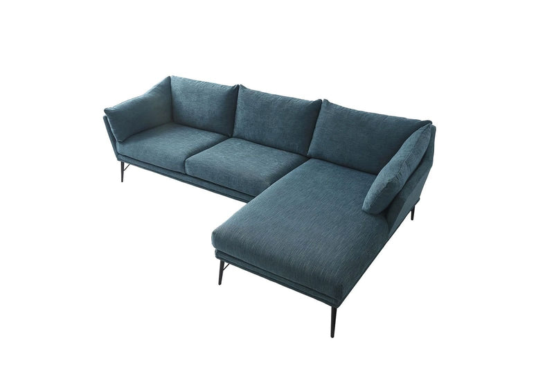 Bailey Indoor Fabric Corner Chaise Lounge in Teal