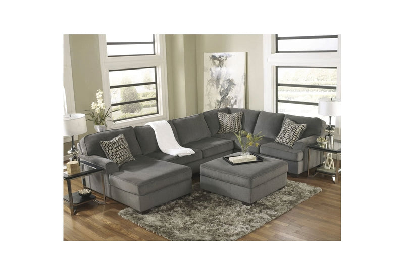 Renae Indoor Fabric Corner Modular Chaise Lounge Setting