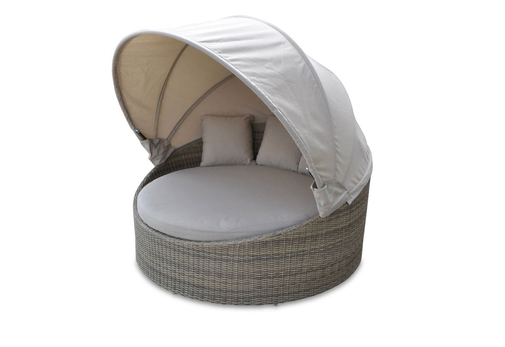 Coolum Daybed with Canopy in Half Round wicker