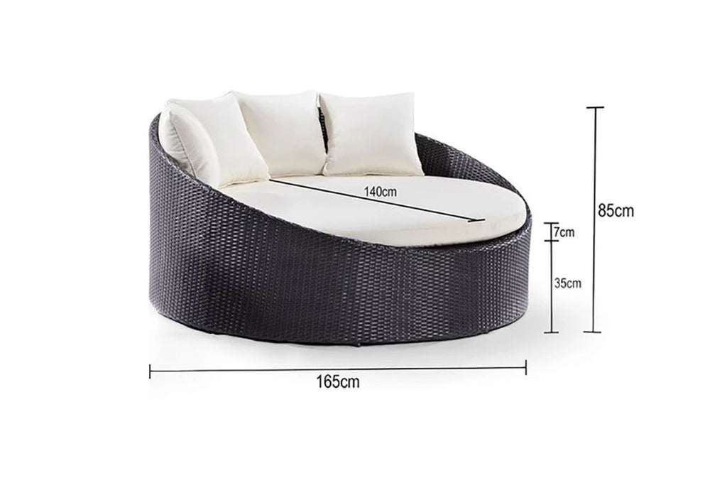 Coolum Daybed - Round Outdoor Round Daybed Without Canopy