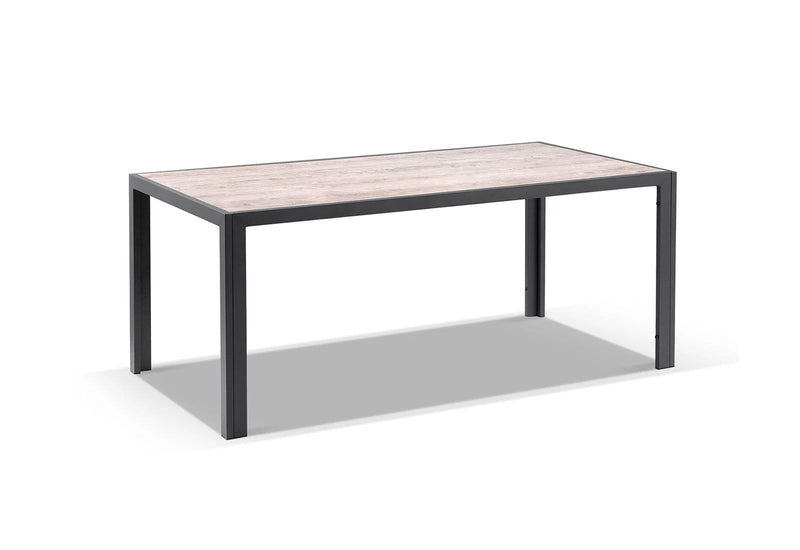Alpine Outdoor 1.85m Aluminium and Ceramic Rectangle Dining Table