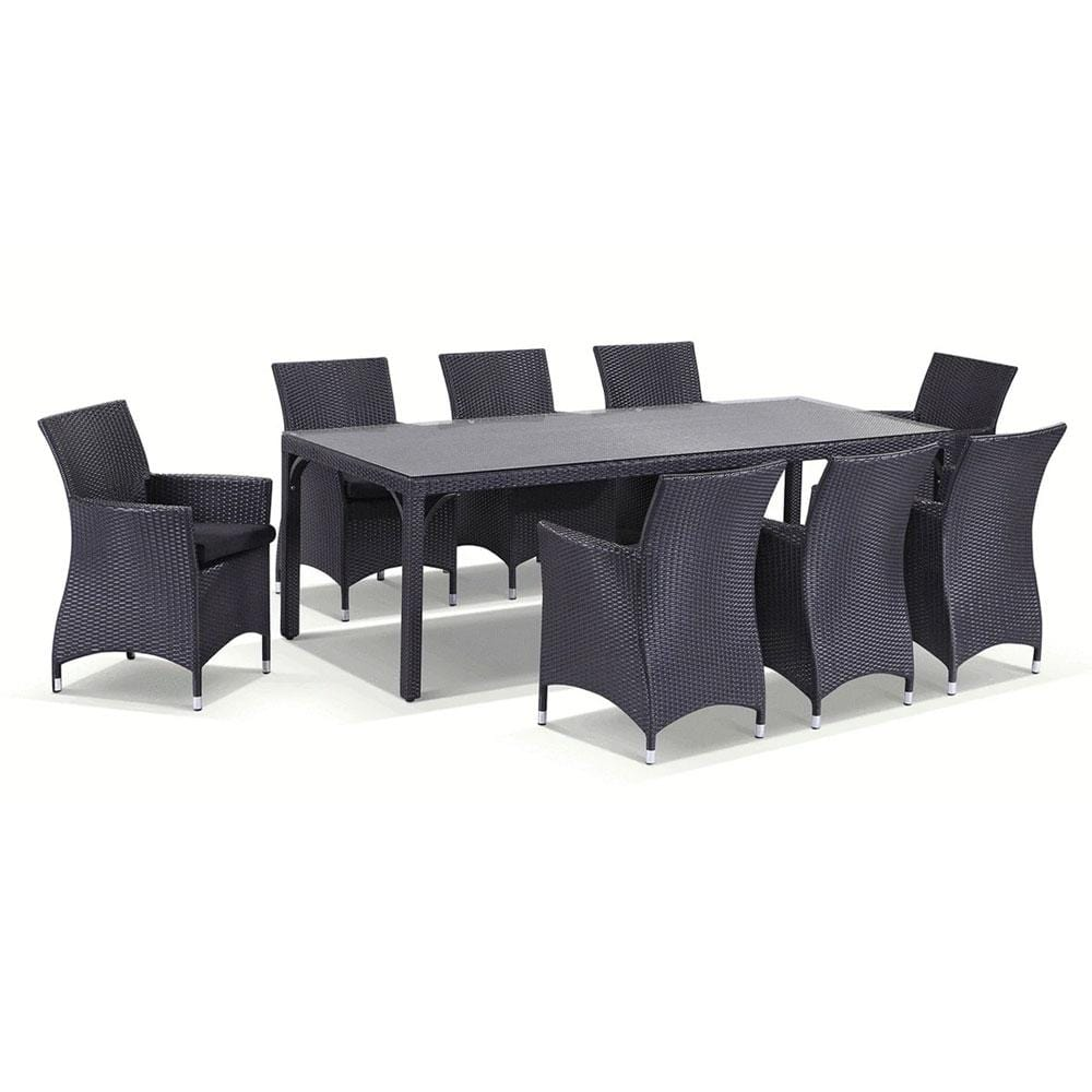 Roman 8 Rectangle - 9pc Outdoor Dining Set