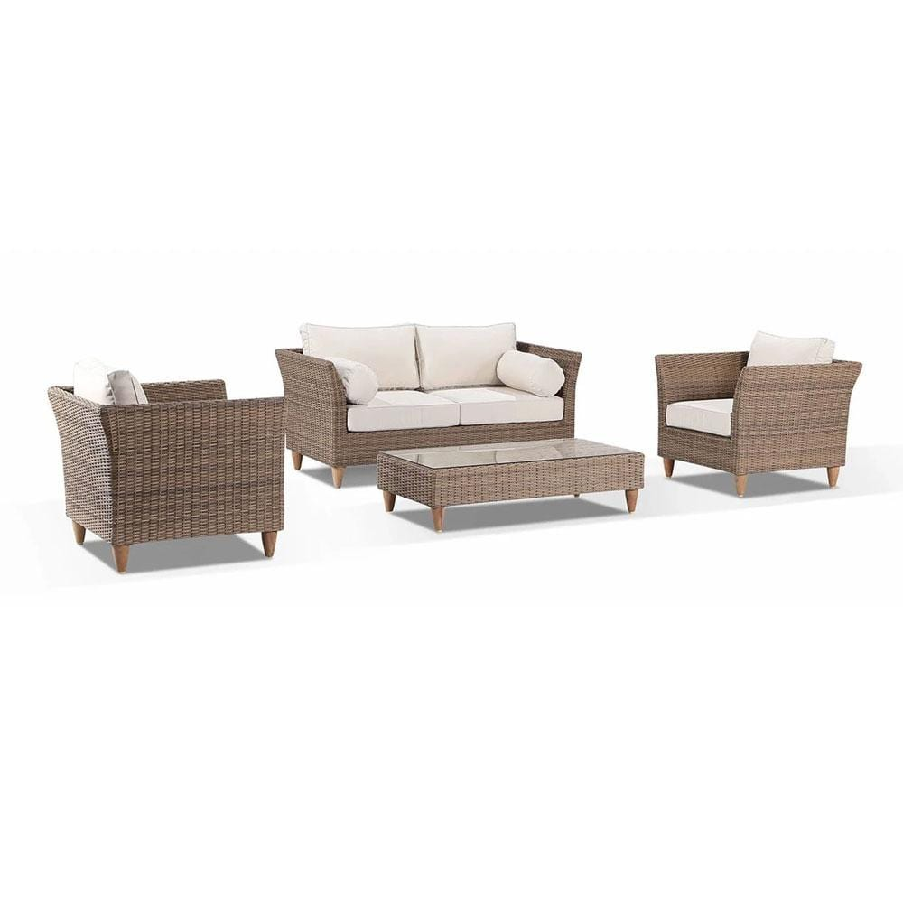 Carolina Outdoor Lounge 2+1+1 with Coffee Table