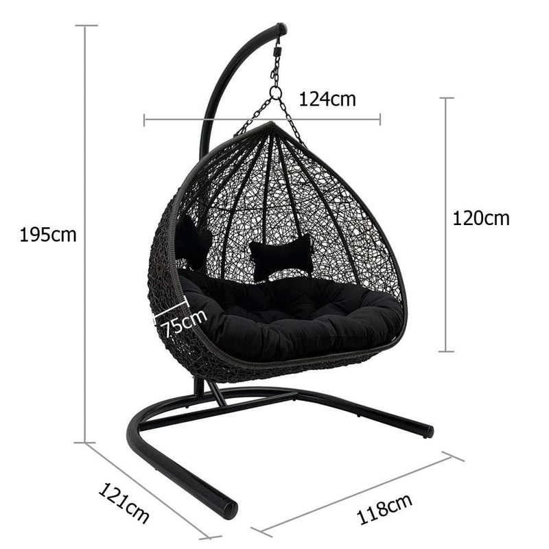 Duke Double Hanging Egg Chair
