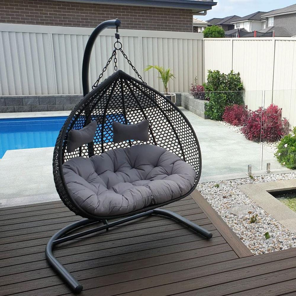Alfie Double Hanging Egg Chair United House Furniture